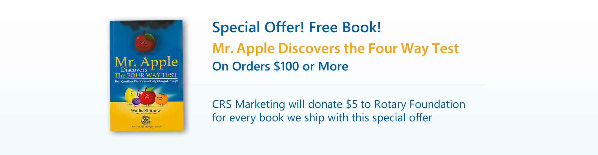 Special Offer - Free Book Mr. Apple Discovers Four Way Test