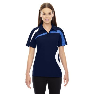 Ladies North End Sport Polyester Colour Block Polo T-Shirt