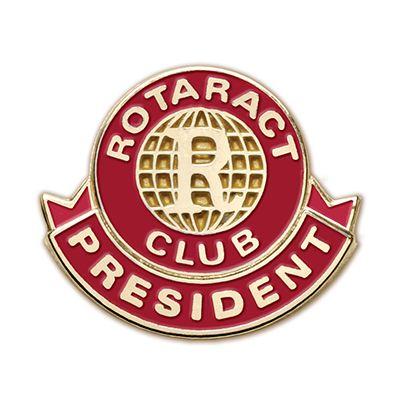 Rotaract President Cloisonne Magnetic Lapel Pin