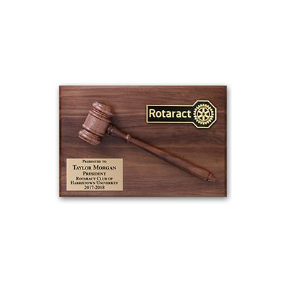 ROTARACT President / Past President Gavel Plaque