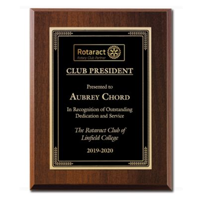 Walnut Finish Rotaract Award