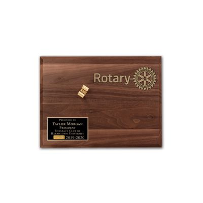 ROTARACT Walnut Display Board for Gavel