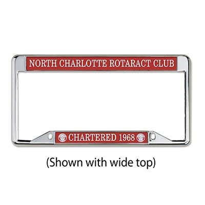 Rotaract Custom Chrome Plated License Plate Frame