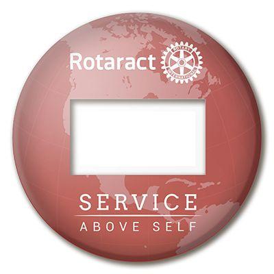 Rotaract Reusable Window Badge
