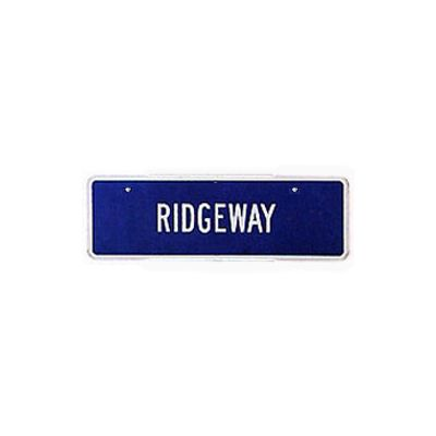 "6"" x 18"" Double-Faced Auxiliary Sign"