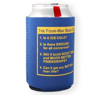 Neoprene Four-Way Beer Test Can Cooler
