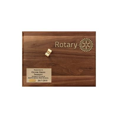 INTERACT Walnut Display Board for Gavel