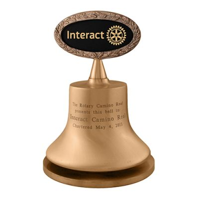 "6"" Diam. Bronze Interact Bell CUSTOMIZED"
