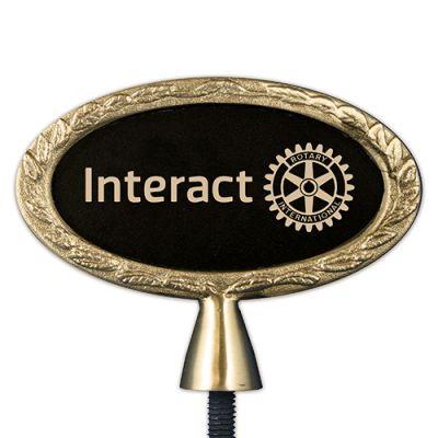 Oval Bronze Interact Emblem Bell Top