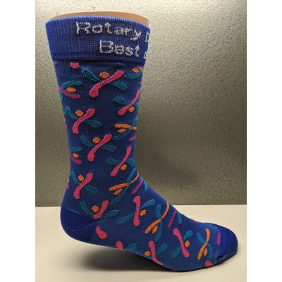 Rotary Brand Happy Socks for District 7090