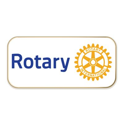 White Rotary Masterbrand Magnetic Lapel Pin