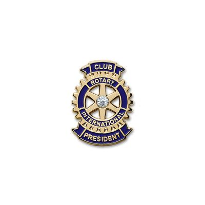 Club President Lapel Pin with Synthetic Diamond