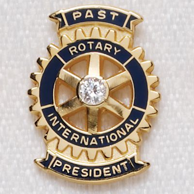 Traditional Past President Lapel Pin 10k Gold with .05 Diamond