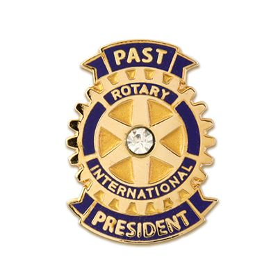 Past President w/ Clear Stone Magnetic Lapel Pin