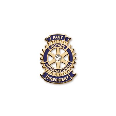 Past President Lapel Pin With Synthetic Diamond