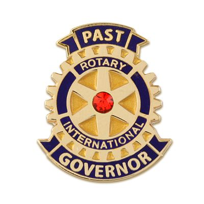 Past Governor w/ Red Stone Magnetic Lapel Pin