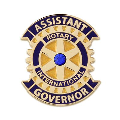 Assistant Governor w/ Synthetic Sapphire Lapel Pin