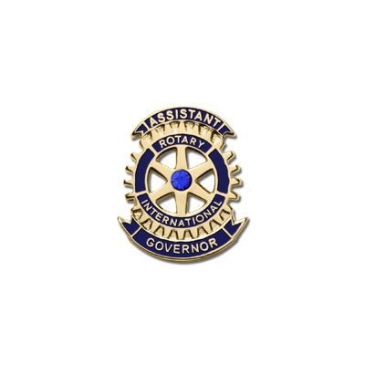Assistant Governor Lapel Pin with Synthetic Sapphire
