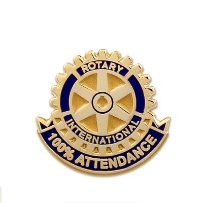 100% Attendance Magnetic Lapel Pin