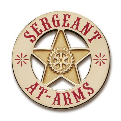 Sheriff's Badge Sergeant At Arms Lapel Pin