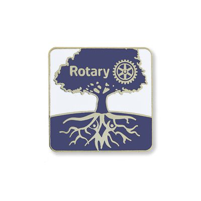 Quiet Rotarian (Tree Motif) Lapel Pin