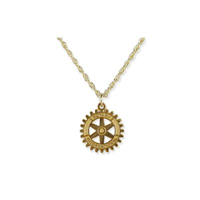 Rotary International Emblem Pendant Necklace