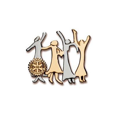 Gold and Silver Celebration of Women Magnetic Brooch
