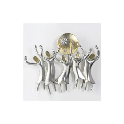 Celebration of Women in Rotary Magnet Brooch