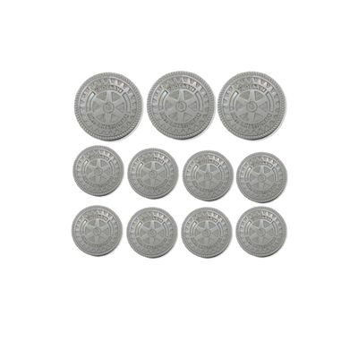 Blazer Buttons with Silver Finish - Set of 11
