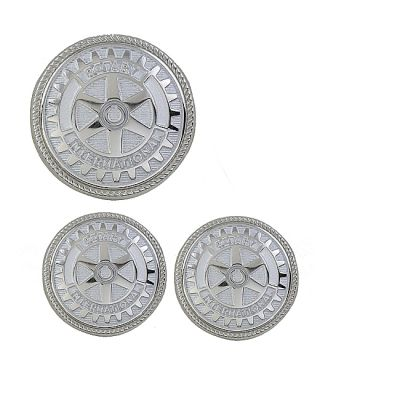 Silver/Misty Silver Blazer Buttons Set - Set of 11