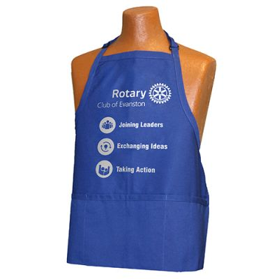 Custom Masterbrand Signature logo Royal Blue 3-Pocket Apron