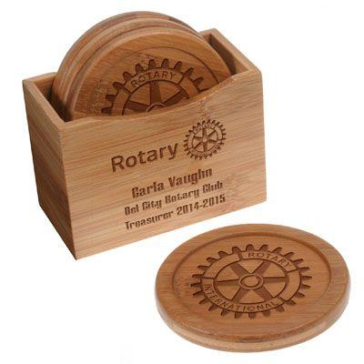 Custom Bamboo Coasters - Set of 4