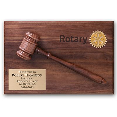 ROTARY Past President/District Governor Gavel Plaque