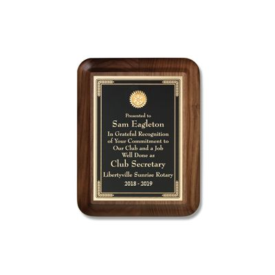 Small Executive Walnut Plaque