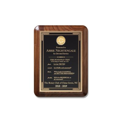 Large Executive Walnut Plaque
