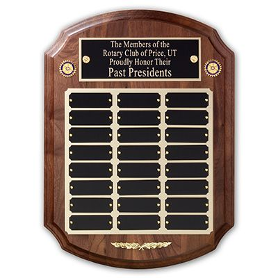 24-Plate Walnut Recognition Plaque