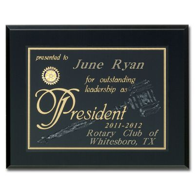 Unique Screened President Gavel Plaque Award