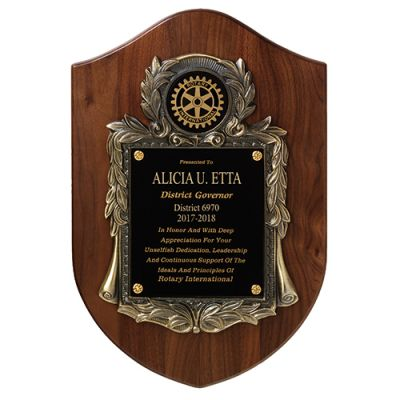Deluxe Past District Governor Award Plaque