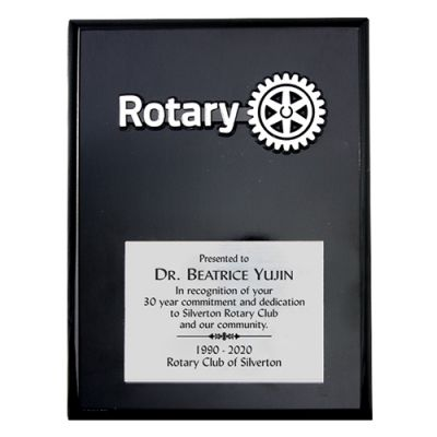 "6 x 8"" Black Piano Finish Award"
