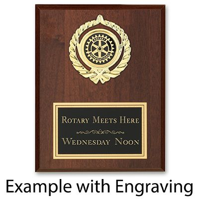 "7"" x 9"" - Extra Large Golden Wreath Award Plaque"