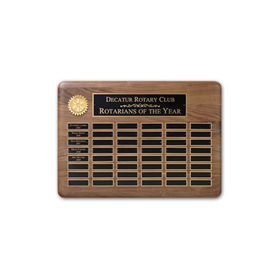 48-Plate Walnut Recognition Plaque