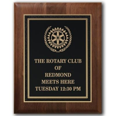 Walnut Rotary Meets Here Plaque