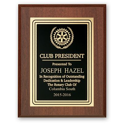 Club President Plaque - Club Executive Series