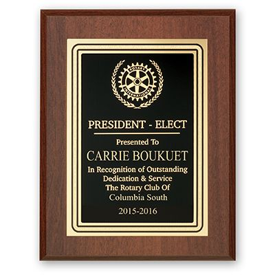 President-Elect Plaque - Club Executive Series