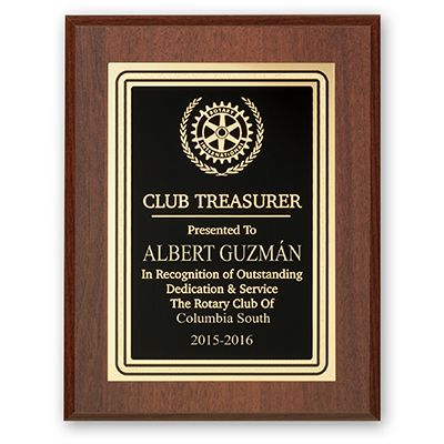 Club Treasurer Plaque - Club Executive Series