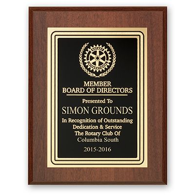 Member Board Of Directors Plaque - Club Executive Series