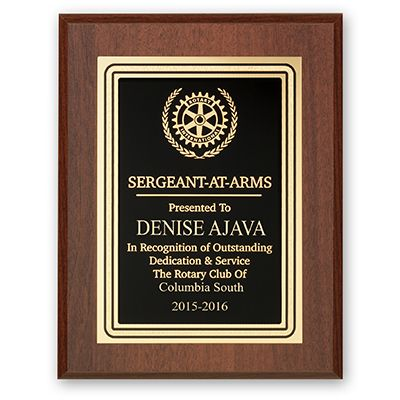 Sergeant At Arms Plaque - Club Executive Series