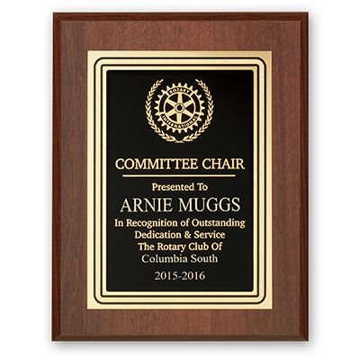 Committee Chairperson Plaque - Club Executive Series