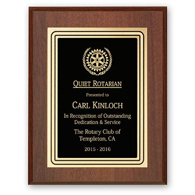 Quiet Rotarian Plaque - Club Executive Series