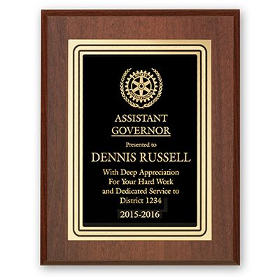 Assistant Governor Plaque - Club Executive Series
